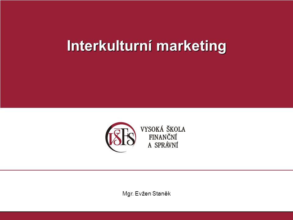 Mgr.Evžen Staněk Interkulturní marketing a komunikace 2.VOLBA STRATEGIE PRO NOVÉ VÝROBKY I.