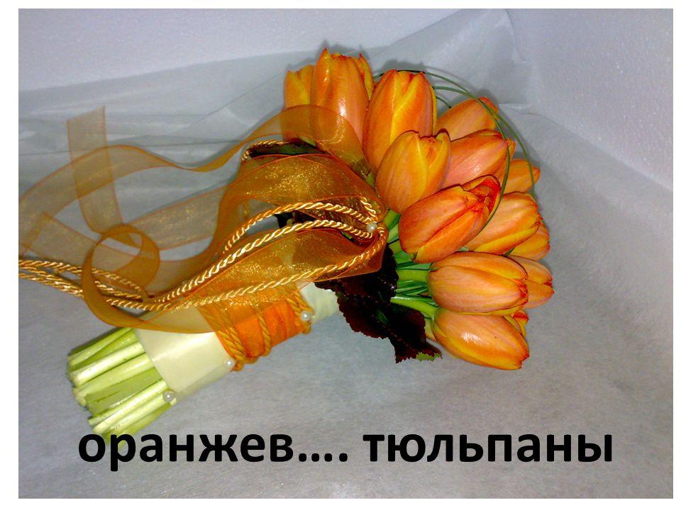 оранжев…. тюльпаны