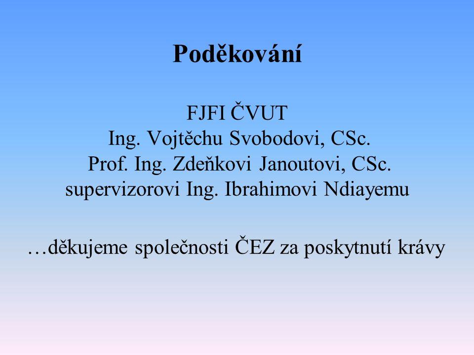 Poděkování FJFI ČVUT Ing. Vojtěchu Svobodovi, CSc.