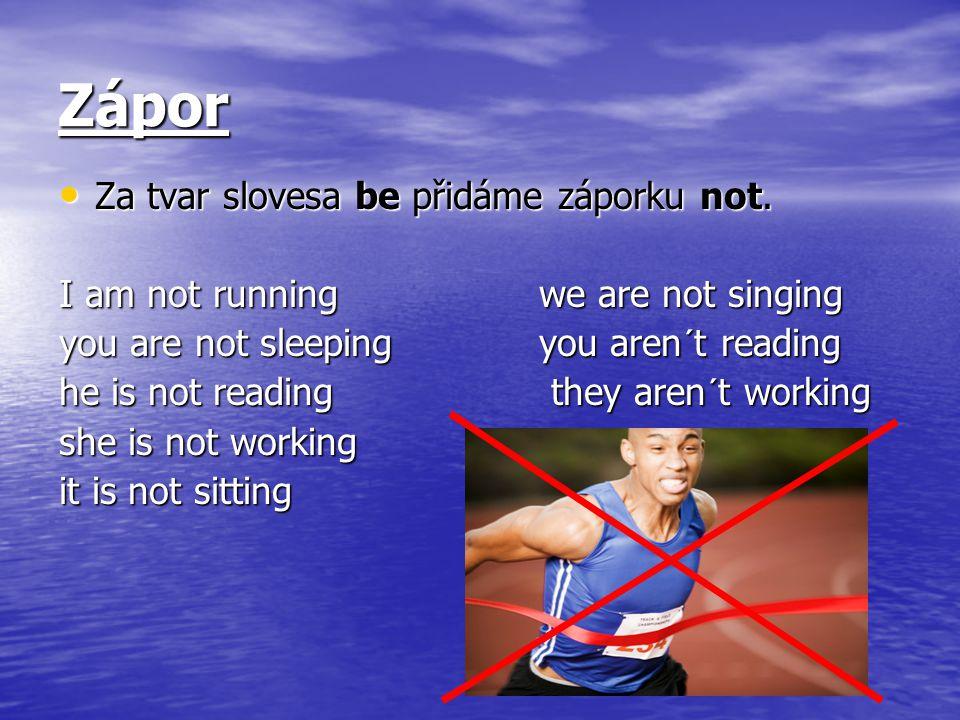 Použití Přítomný čas průběhový se používá pro právě probíhající činnosti.