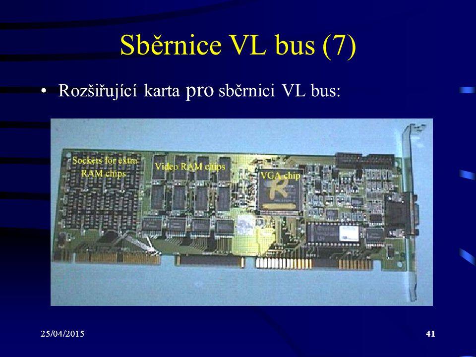 25/04/201541 Sběrnice VL bus (7) Rozšiřující karta pro sběrnici VL bus: