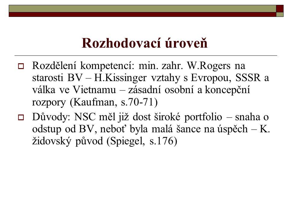 Americké strategie pro BV  Hlav.cíle N. a K. strategie: snížení sovět.