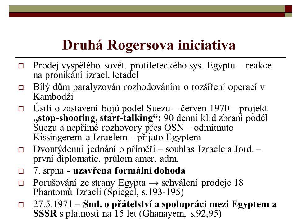Druhá Rogersova iniciativa  Prodej vyspělého sovět.