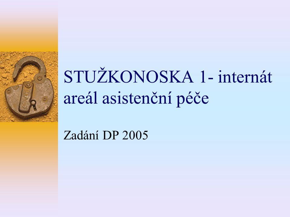 STUŽKONOSKA 1- internát areál asistenční péče Zadání DP 2005