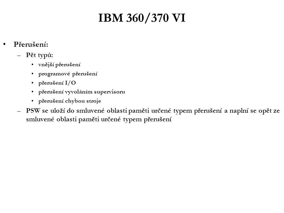 32-bitové mikroprocesory I - Motorola Motorola 680x0: –68010 (1982): podpora virtualizace paměti (restart instrukcí) –68020 (1984): i vnější HW rozhraní už plně 32-bitové jednoduchá 3 stupňová pipeline on-chip cache –68030 (1987): on-chip MMU (dvouúrovňové stránkování) –68040 (1991): 6 stupňová pipeline integrovaná FPU –68060 (1994): 10 stupňová pipeline; dékodování instrukcí do RISC-like formy superskalarita (2+1) skokové optimalizace (dynamická predikce skoků na základě branch cache)