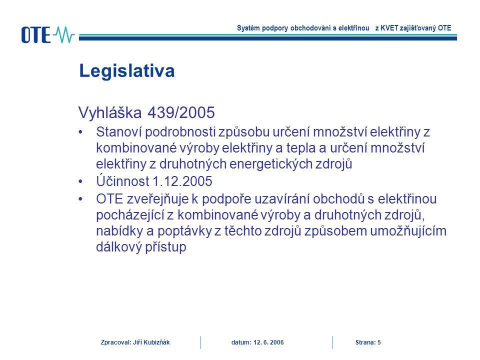 Vyhláška 439/2005 Stanoví podrobnosti způsobu určení množství elektřiny z kombinované výroby elektřiny a tepla a určení množství elektřiny z druhotnýc