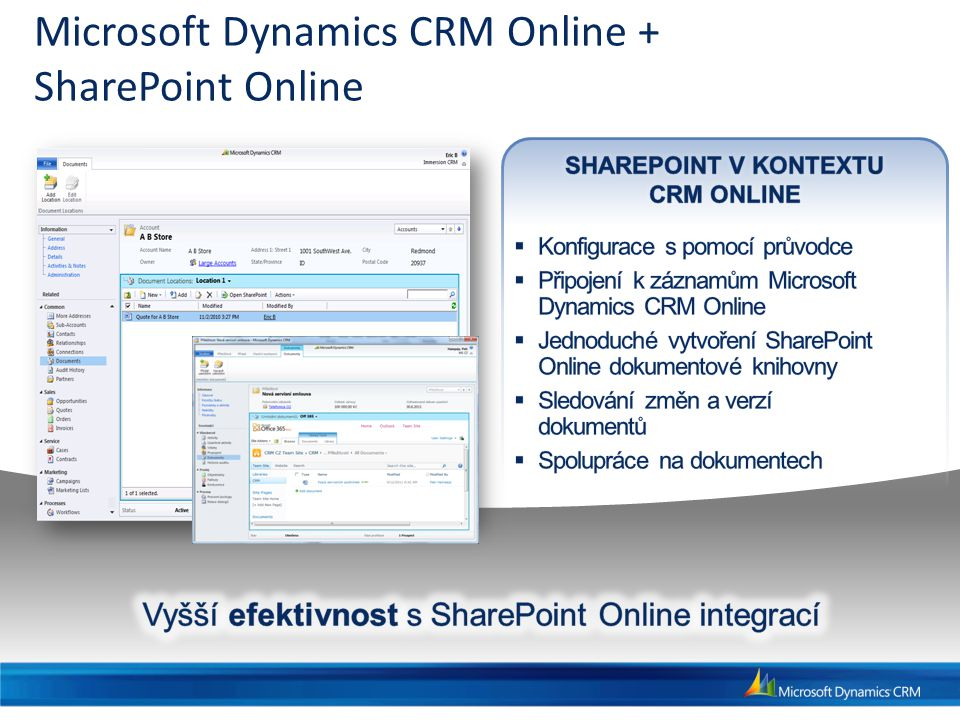 Microsoft Dynamics CRM Online + SharePoint Online
