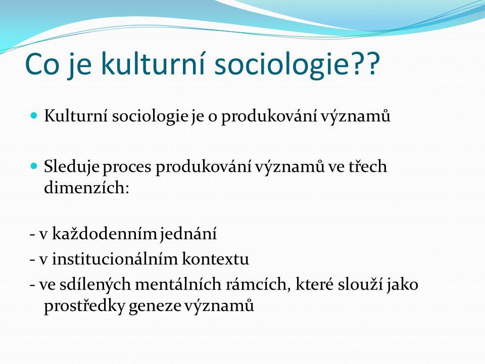 Co je kultura?.