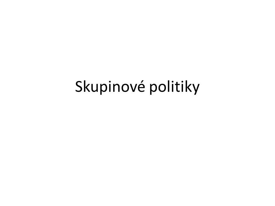 Co je skupinová politika.
