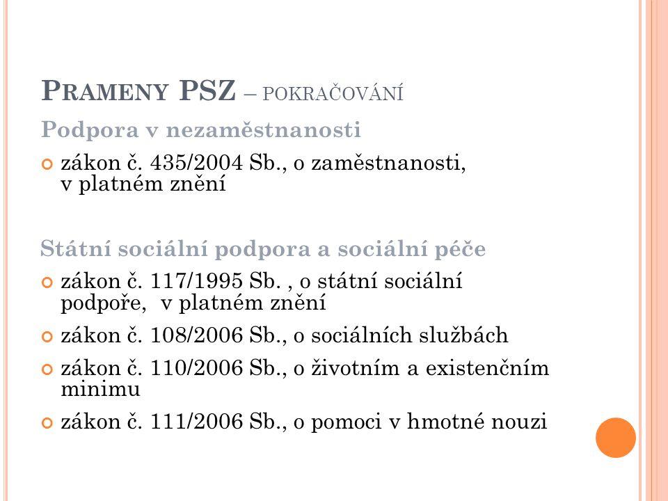 Podpora v nezaměstnanosti zákon č.