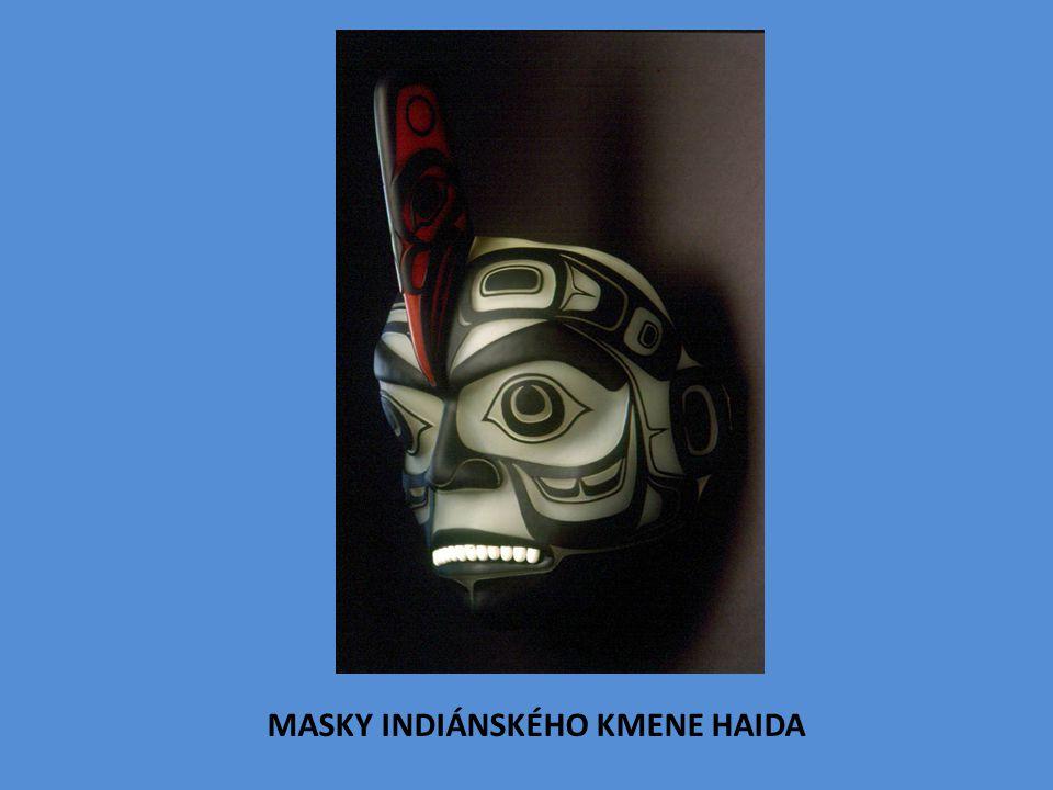 MASKY INDIÁNSKÉHO KMENE HAIDA