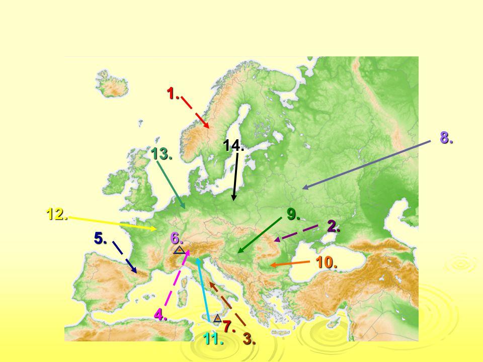 SPRÁVNÉ ODPOVĚDI 1.Skandinávské pohoří 2. Karpaty 3.