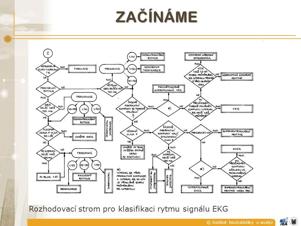 © Institut biostatistiky a analýz ZA Č ÍNÁME Rozhodovací strom pro klasifikaci rytmu signálu EKG