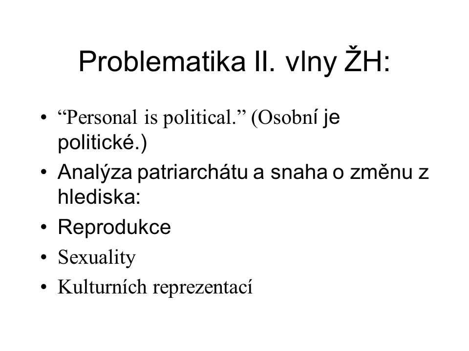 Problematika II.
