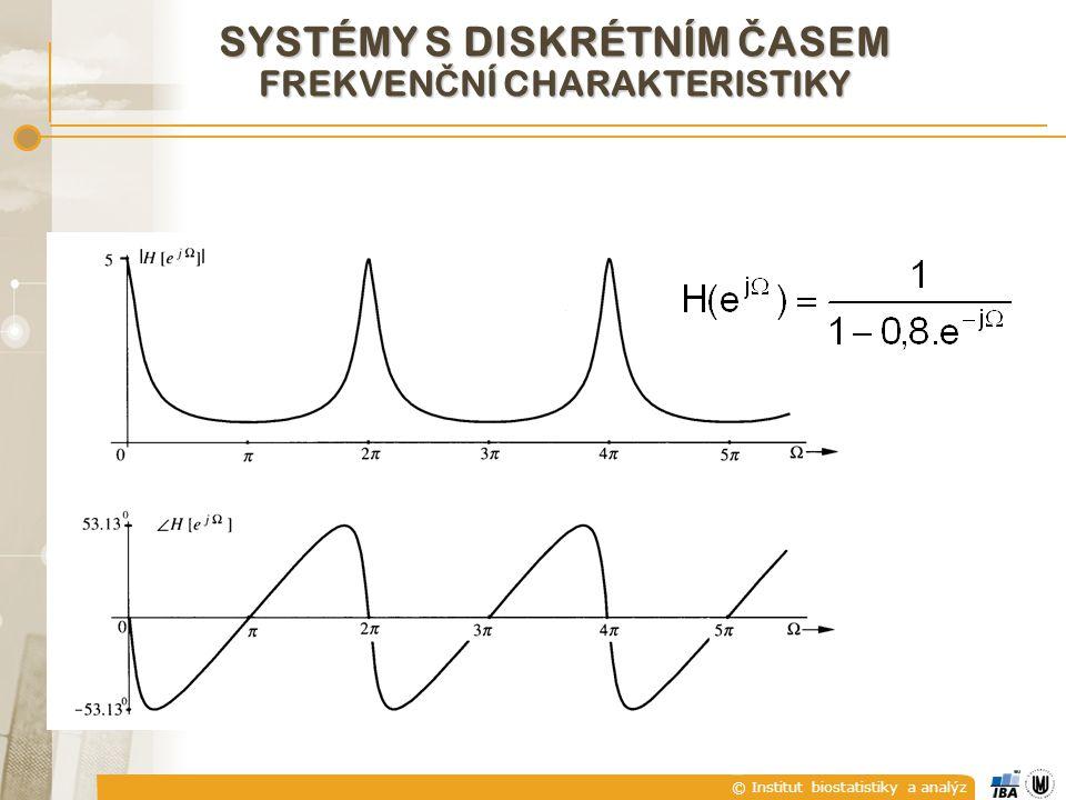 © Institut biostatistiky a analýz SYSTÉMY S DISKRÉTNÍM Č ASEM FREKVEN Č NÍ CHARAKTERISTIKY