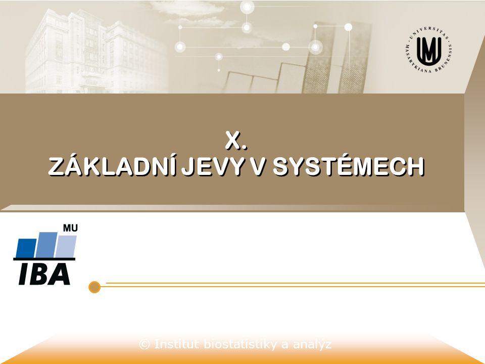 © Institut biostatistiky a analýz X. ZÁKLADNÍ JEVY V SYSTÉMECH