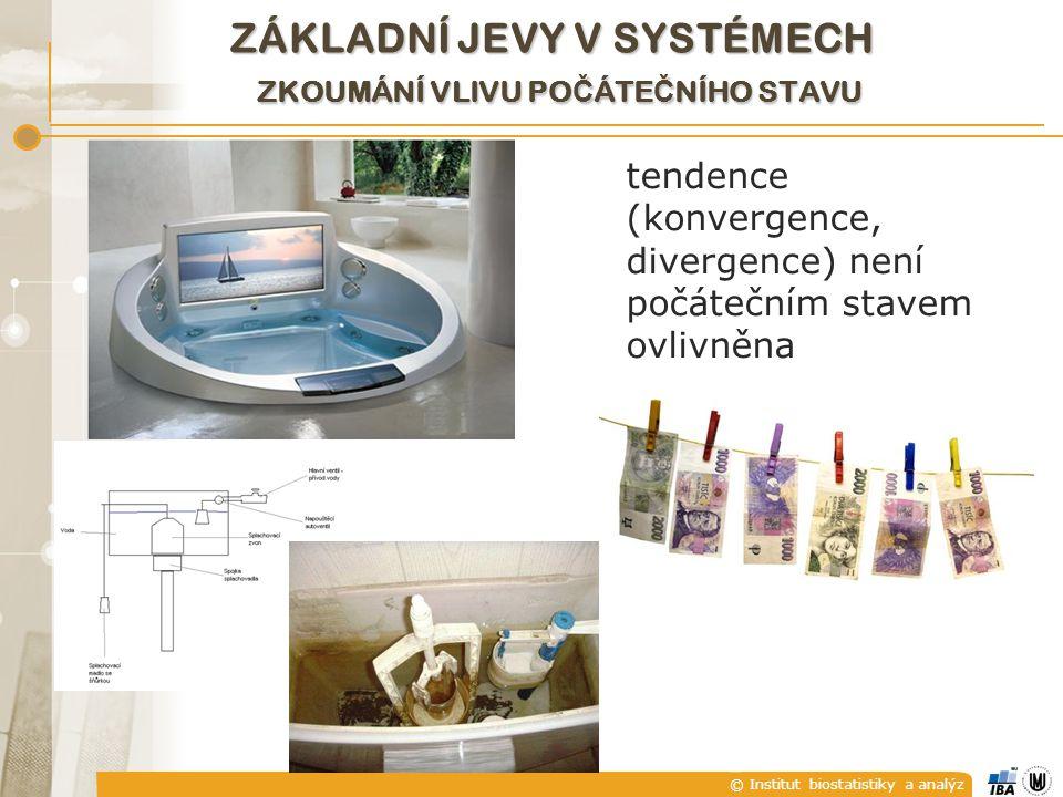 © Institut biostatistiky a analýz ZÁKLADNÍ JEVY V SYSTÉMECH ZKOUMÁNÍ VLIVU PO Č ÁTE Č NÍHO STAVU tendence (konvergence, divergence) není počátečním stavem ovlivněna