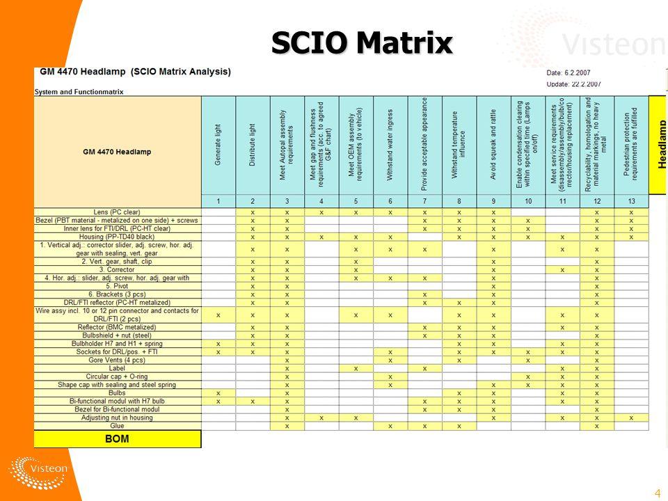 4 SCIO Matrix