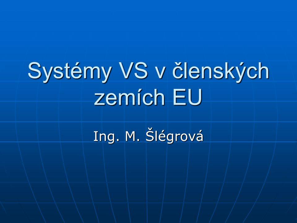 Systémy VS v členských zemích EU Ing. M. Šlégrová