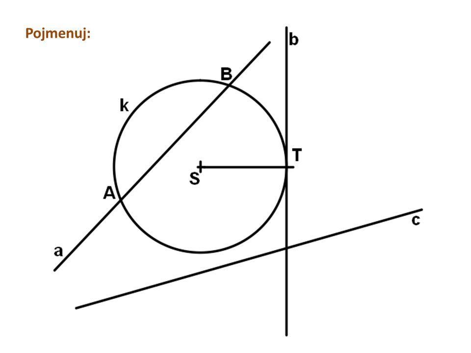 Tečna z vlastního budu kružnice: Sestroj kružnici k(S; r = 3,5 cm).