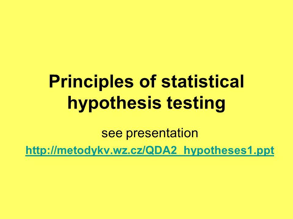 Kontingenční tabulka - vyjádření vztahů kategorií Statistika Chíkvadrát nevypovídá nic o síle vztahu, pouze zamítá/nezamítá nulovou hypotézu o závislosti nebo homogenitě na dané hladině významnosti alfa.