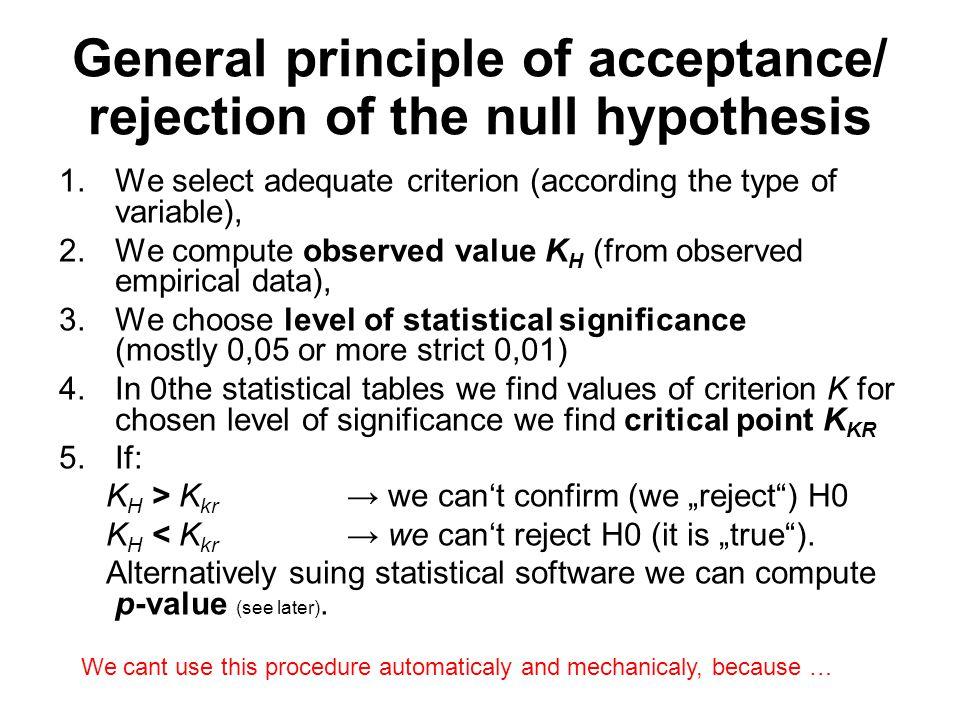 Chí-kvadrát testy: test dobré shody Test pro homogenitu distribucí mezi kategoriemi znaku/ů test dobré shody = shody relativních četností ni/n a hypotetických pravděpodobností.