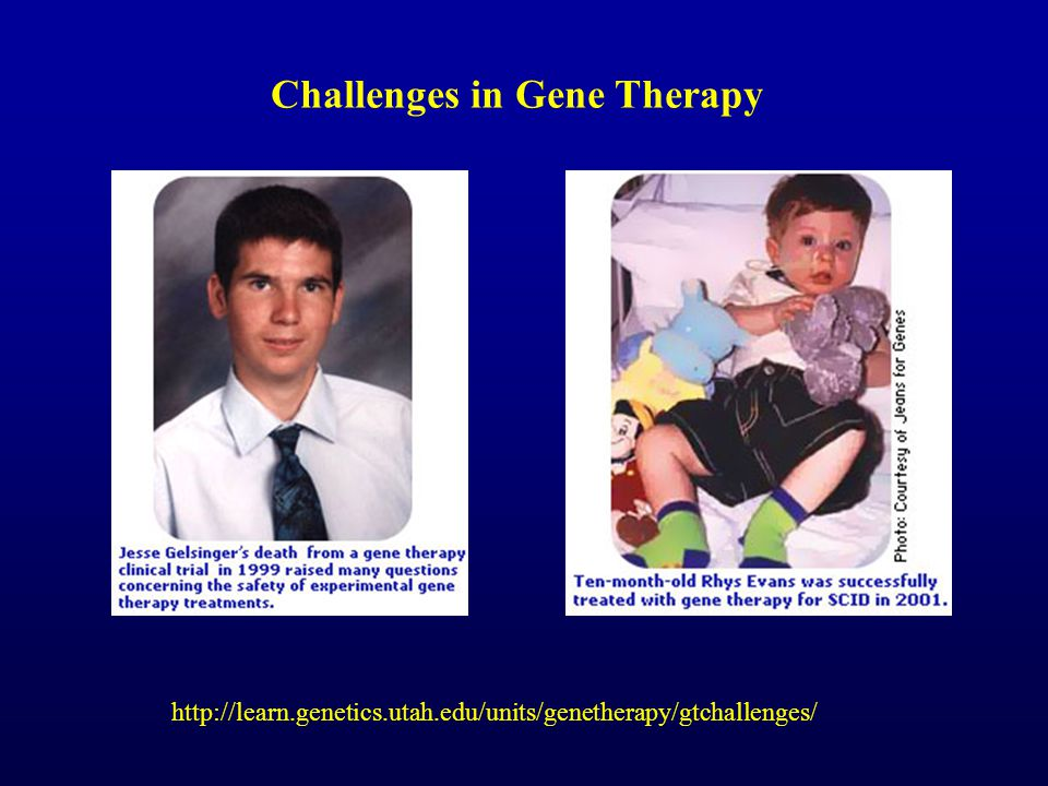Challenges in Gene Therapy http://learn.genetics.utah.edu/units/genetherapy/gtchallenges/