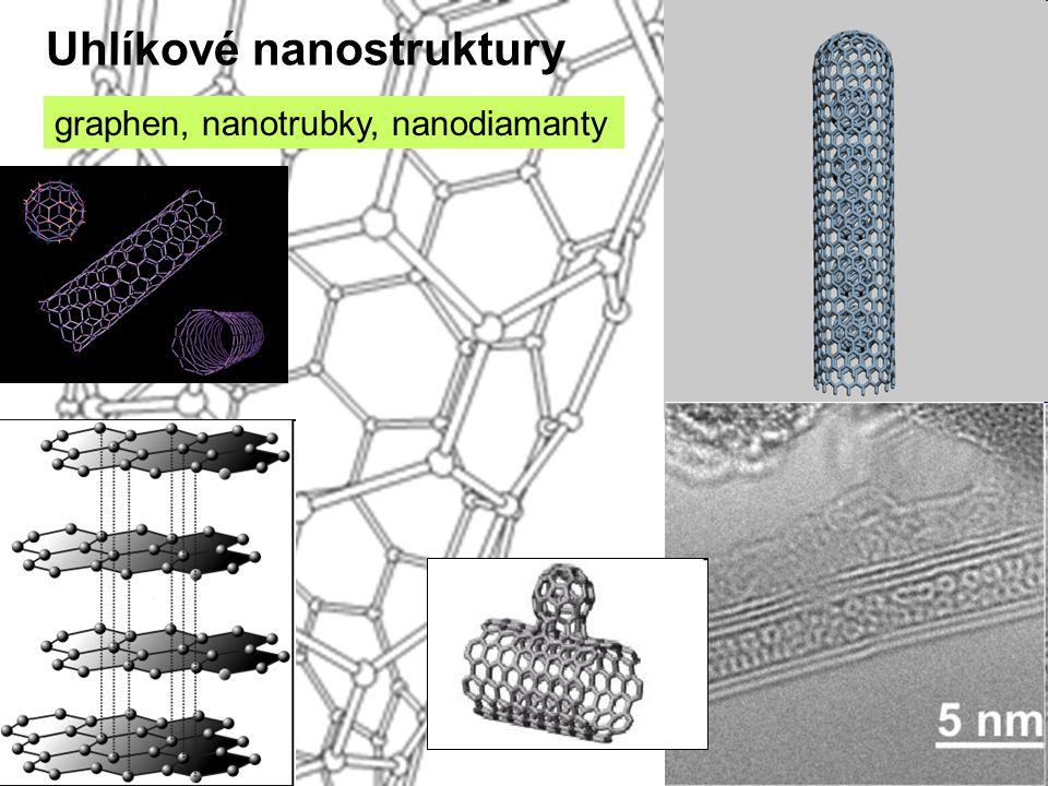 Uhlíkové nanostruktury graphen, nanotrubky, nanodiamanty