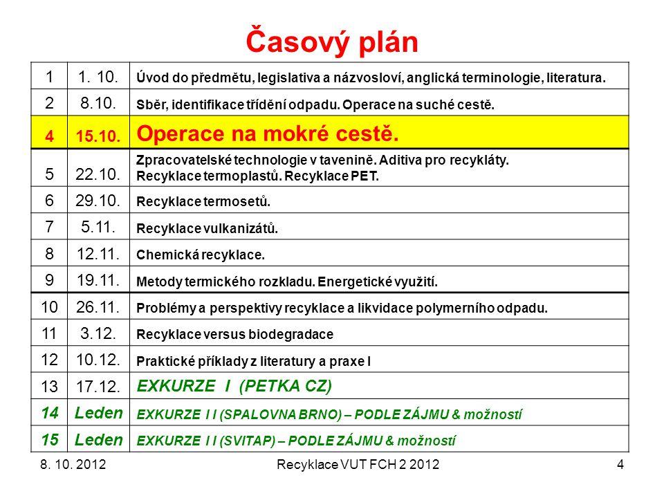 Recyklace 3 VUT FCH 2012515.10.2011