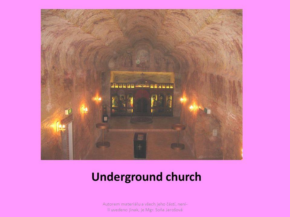 Underground church Autorem materiálu a všech jeho částí, není- li uvedeno jinak, je Mgr.