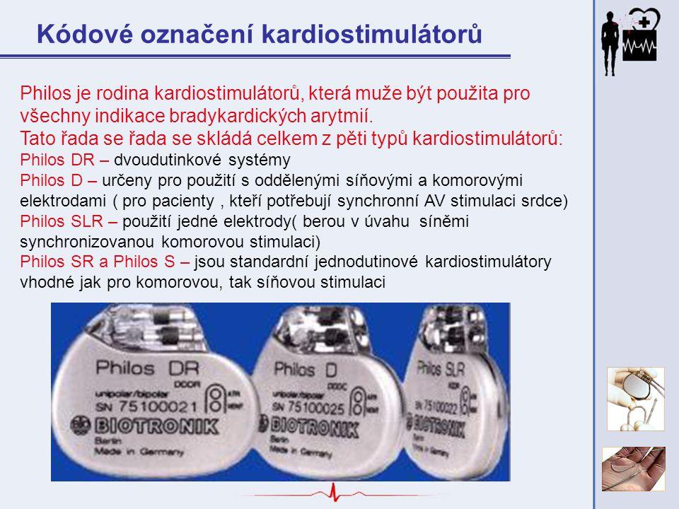 Kódové označení kardiostimulátorů Philos je rodina kardiostimulátorů, která muže být použita pro všechny indikace bradykardických arytmií. Tato řada s