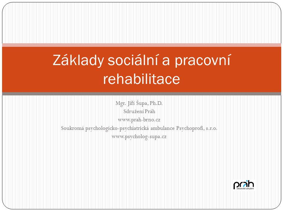 Mgr. Ji ř í Šupa, Ph.D. Sdružení Práh www.prah-brno.cz Soukromá psychologicko-psychiatrická ambulance Psychoprofi, s.r.o. www.psycholog-supa.cz Základ