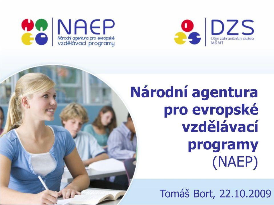 Národní agentura pro evropské vzdělávací programy (NAEP) Tomáš Bort, 22.10.2009