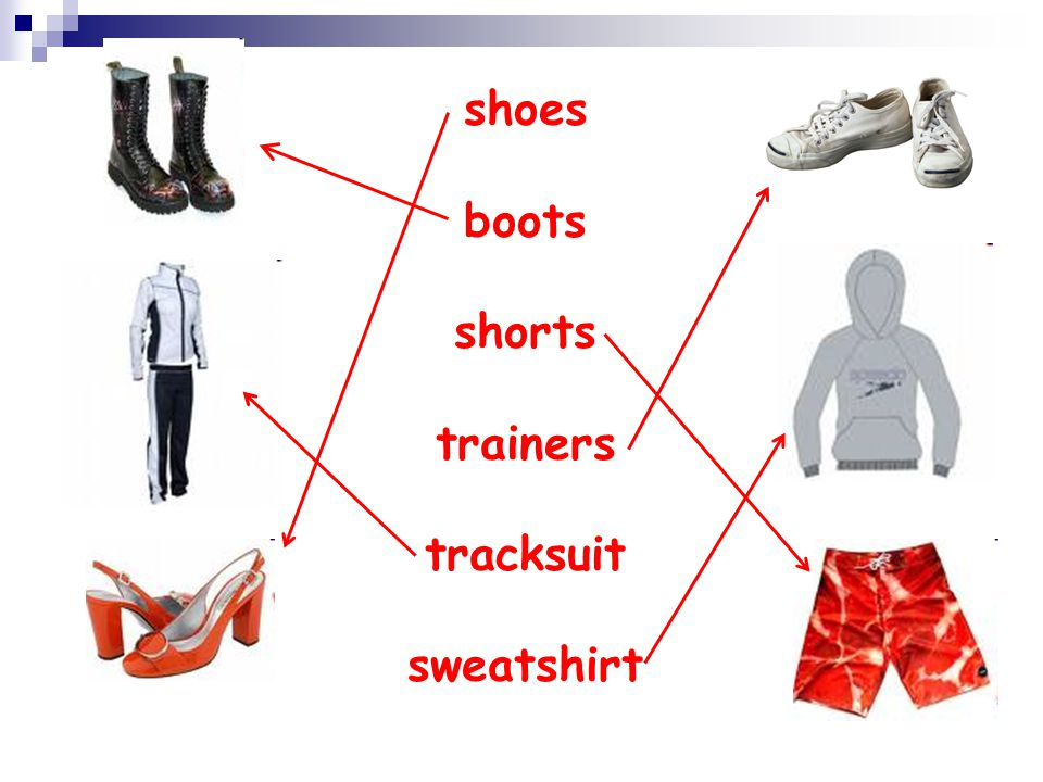 shoes boots shorts trainers tracksuit sweatshirt