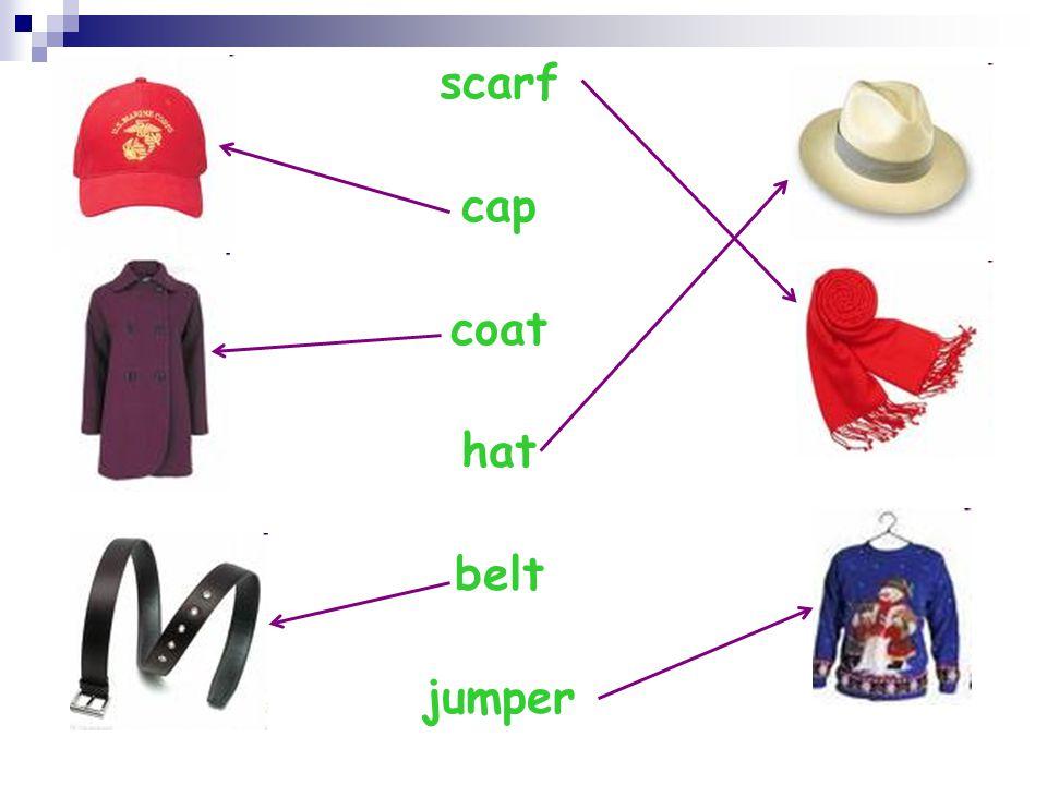 scarf cap coat hat belt jumper
