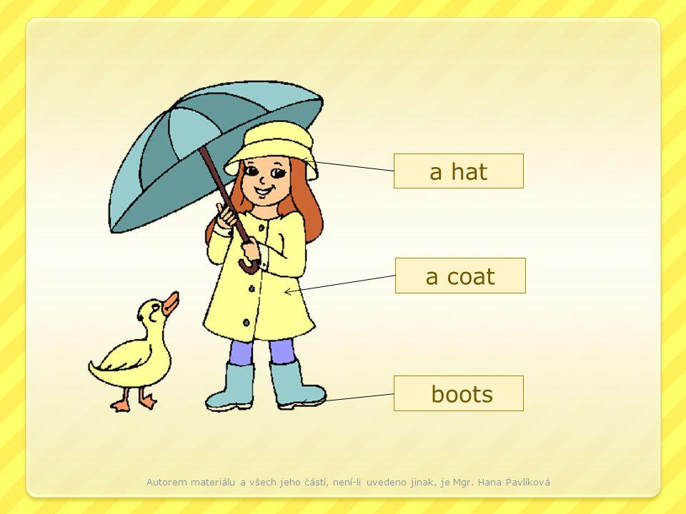 a hat a coat boots Autorem materiálu a všech jeho částí, není-li uvedeno jinak, je Mgr.