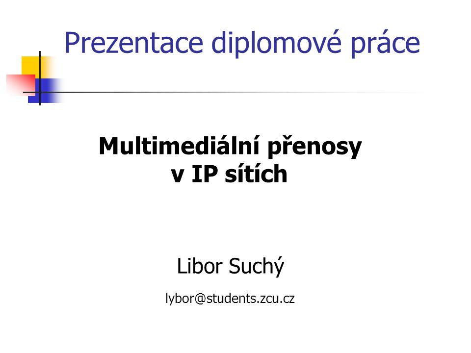 Multimediální přenosy v IP sítích Libor Suchý lybor@students.zcu.cz Prezentace diplomové práce