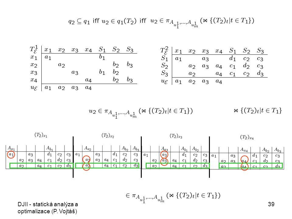 DJII - statická analýza a optimalizace (P. Vojtáš) 39