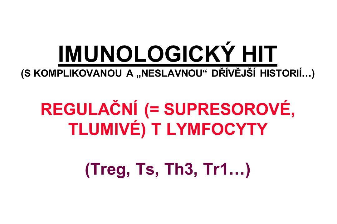 """IMUNOLOGICKÝ HIT (S KOMPLIKOVANOU A """"NESLAVNOU"""" DŘÍVĚJŠÍ HISTORIÍ…) REGULAČNÍ (= SUPRESOROVÉ, TLUMIVÉ) T LYMFOCYTY (Treg, Ts, Th3, Tr1…)"""