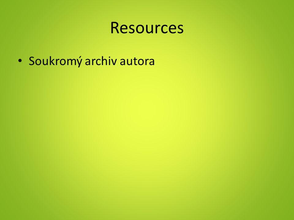 Resources Soukromý archiv autora