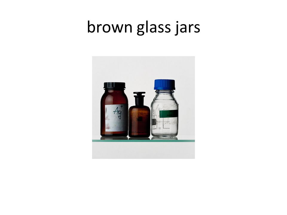 brown glass jars