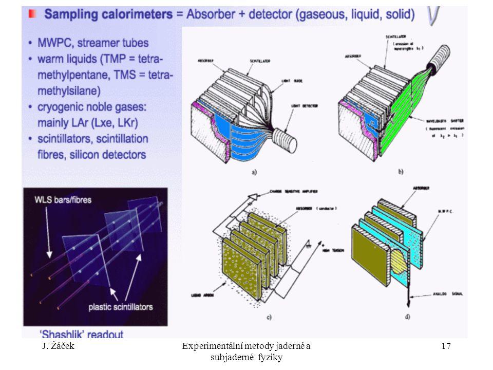 J. ŽáčekExperimentální metody jaderné a subjaderné fyziky 17