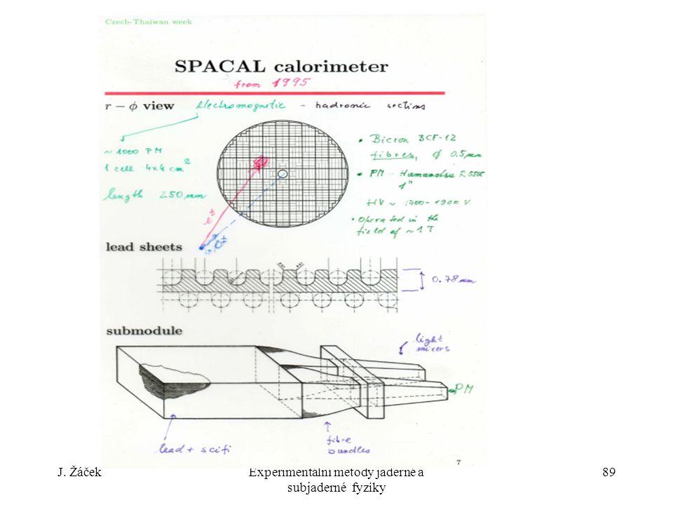 J. ŽáčekExperimentální metody jaderné a subjaderné fyziky 89