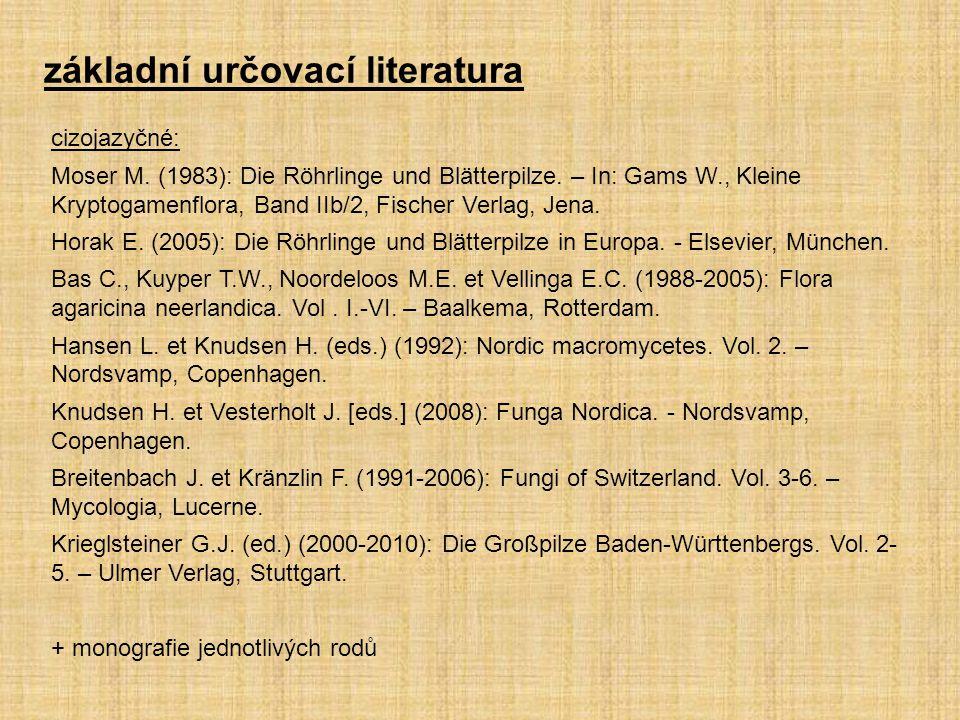 cizojazyčné: Moser M. (1983): Die Röhrlinge und Blätterpilze. – In: Gams W., Kleine Kryptogamenflora, Band IIb/2, Fischer Verlag, Jena. Horak E. (2005