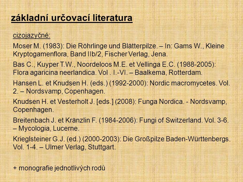 cizojazyčné: Moser M. (1983): Die Röhrlinge und Blätterpilze. – In: Gams W., Kleine Kryptogamenflora, Band IIb/2, Fischer Verlag, Jena. Bas C., Kuyper
