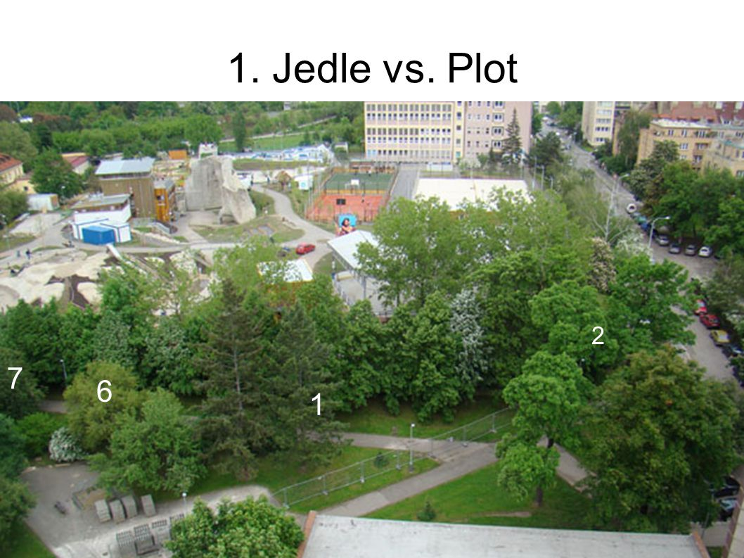 1. Jedle vs. Plot 1 2 6 7