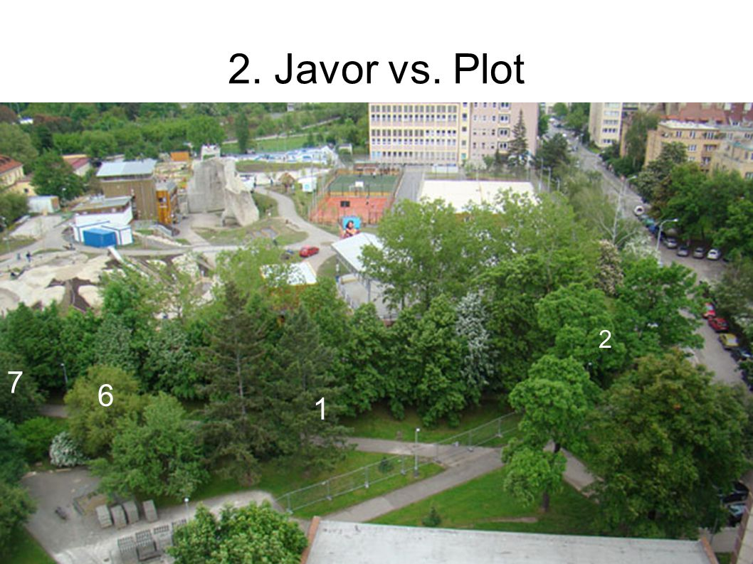 2. Javor vs. Plot 1 2 6 7