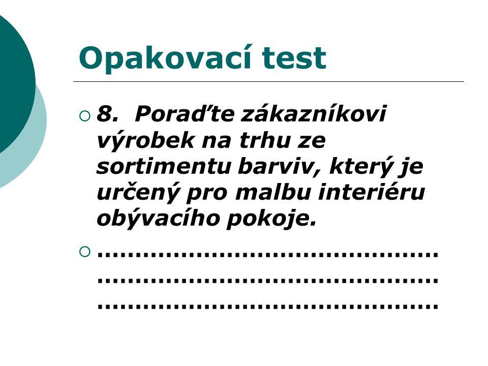 Opakovací test  8.