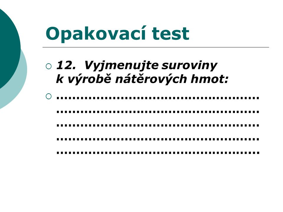 Opakovací test  12.