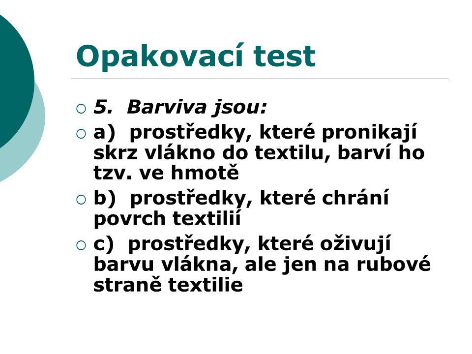 Opakovací test  5.